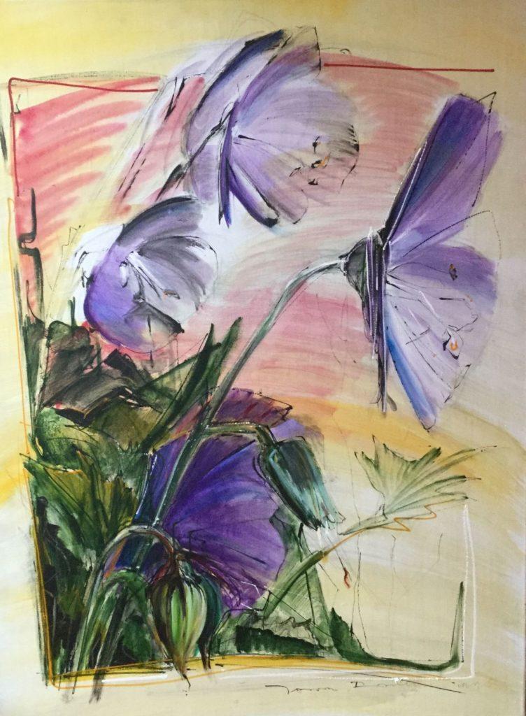 Schilderijen te koop van kunstschilder Jeroen Dercksen bloemstilleven olie op doek, gesigneerd, Expositie Galerie Wijdemeren Breukeleveen