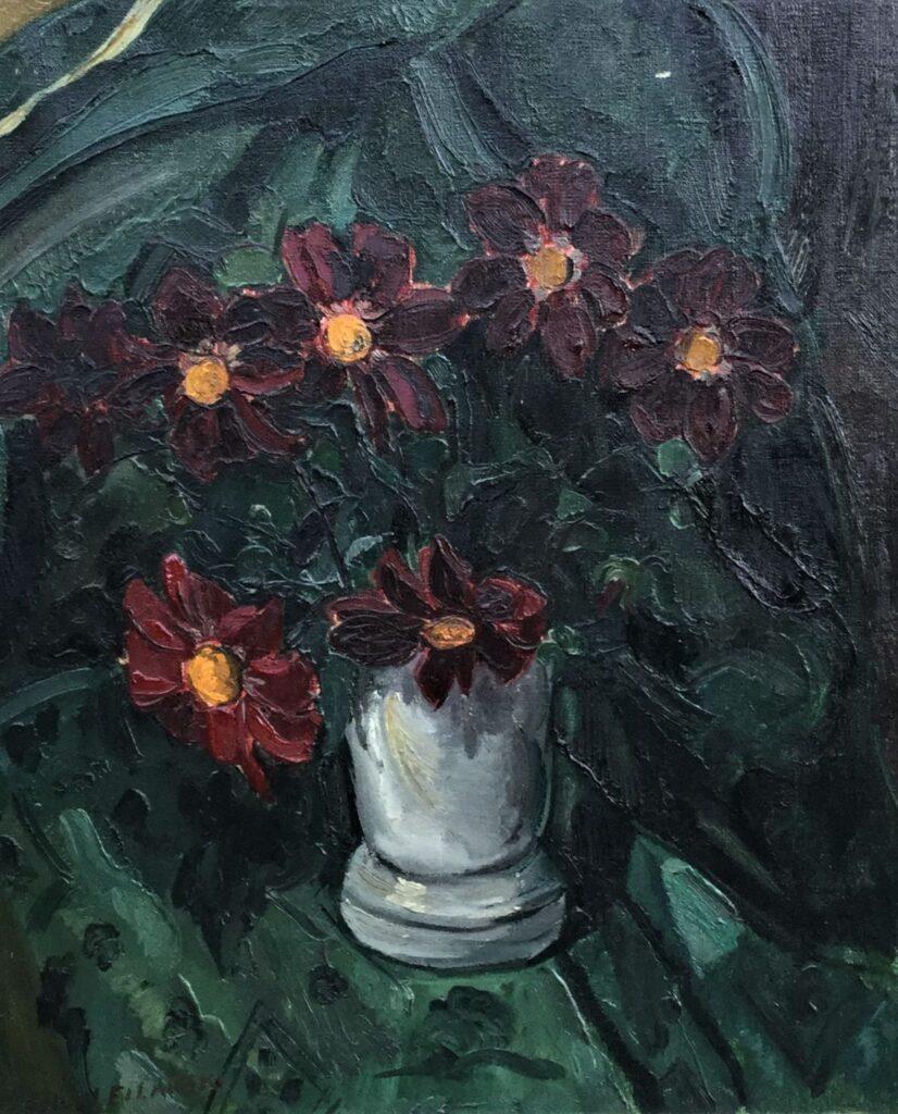 Kunstenaar Dirk Herman Willem Filarski C4471W Dirk Filarski stilleven met bloemen olie op doek, 65.5 x 54.5 cm r.o. gesigneerd verkocht