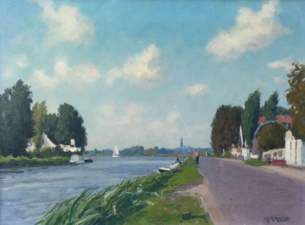 Schilderijen te koop van kunstschilder Henk Dekker Braassemermeer olie op doek, 30,5 x 40,5 cm rechtsonder gesigneerd, Expositie Galerie Wijdemeren Breukeleveen
