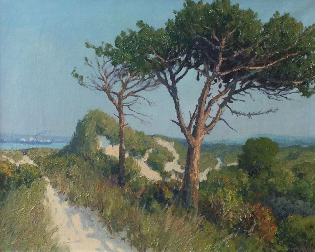 Schilderijen te koop van kunstschilder Henk Dekker De Beer olie op doek, 40.5 x 50.5 cm rechtsonder gesigneerd, Expositie Galerie Wijdemeren Breukeleveen