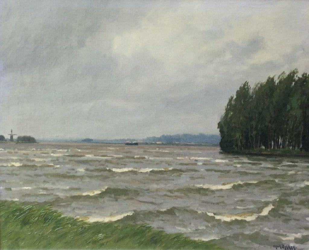 Schilderijen te koop van kunstschilder Henk Dekker De Kaag olie op doek, 40.5 x 50.5 cm rechtsonder gesigneerd, Expositie Galerie Wijdemeren Breukeleveen