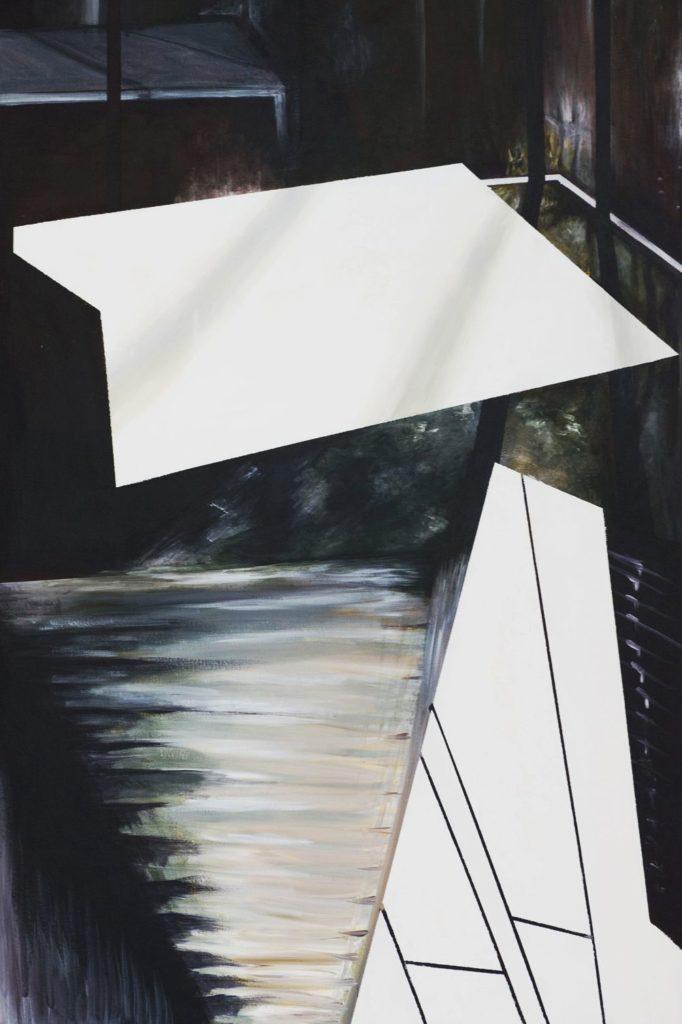 C4744-2 Salam Kadhim Ik spreek de waarheid II acryl op doek, 70 x 100 cm verso gesigneerd, Schilderijen te koop bij Galerie Wijdemeren Breukeleveen