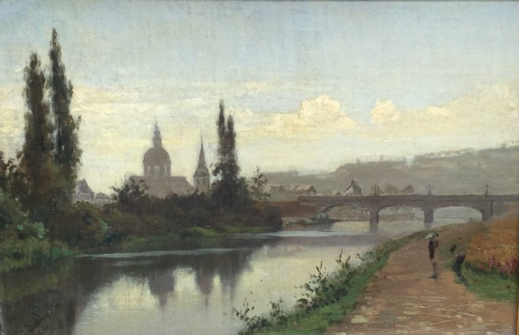 Schilderijen te koop van kunstschilder Auguste Dandoy, Expositie Galerie Wijdemeren Breukeleveen