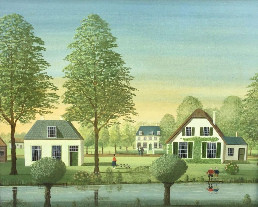 Schilderijen te koop van kunstschilder Jaap ter Haar Zomer olie op doek, 40.5 x 50 cm linksonder gesigneerd, Expositie Galerie Wijdemeren Breukeleveen