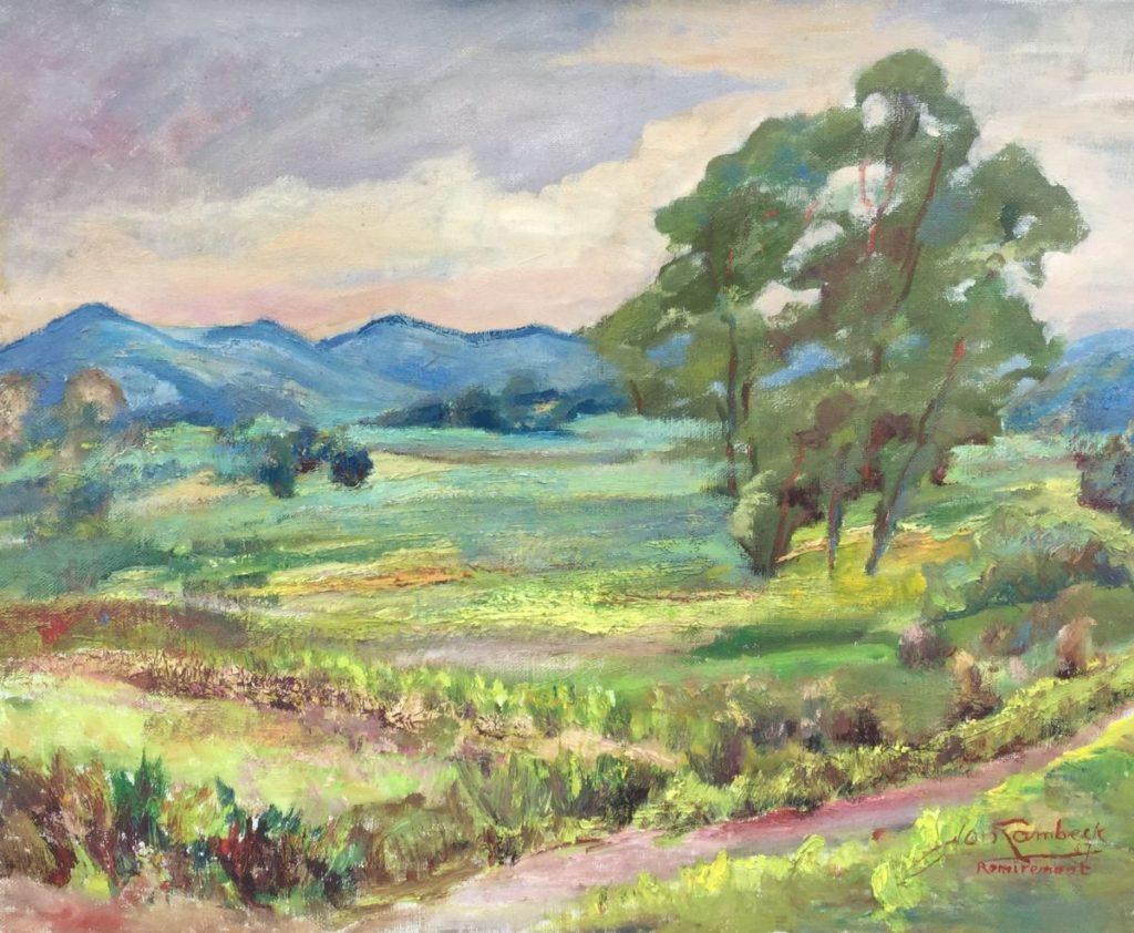 Schilderijen te koop van kunstschilder Jan Lambeck Remiremont, Frankrijk olie op doek, doekmaat 40 x 50 cm rechtsonder gesigneerd, Expositie Galerie Wijdemeren Breukeleveen