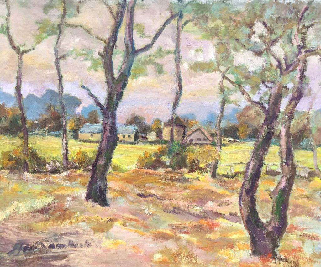 Schilderijen te koop van kunstschilder Jan Lambeck St. Martin, 980 mtr, route Napoleon olie op doek, doekmaat 40 x 50 cm linksonder gesigneerd, Expositie Galerie Wijdemeren Breukeleveen