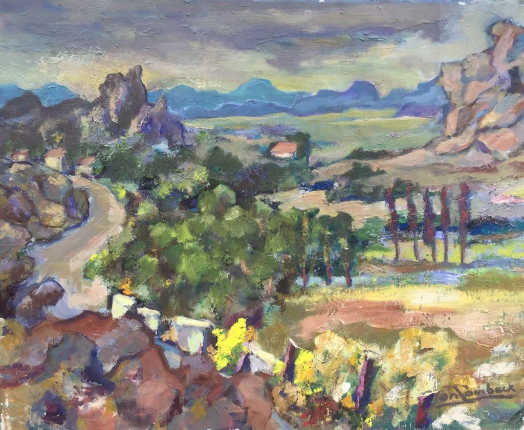Kunst te koop van Jan Lambeck Sella bij Villajoyosa olie op doek, 40 x 50 cm rechtsonder gesigneerd, gedateerd 1977