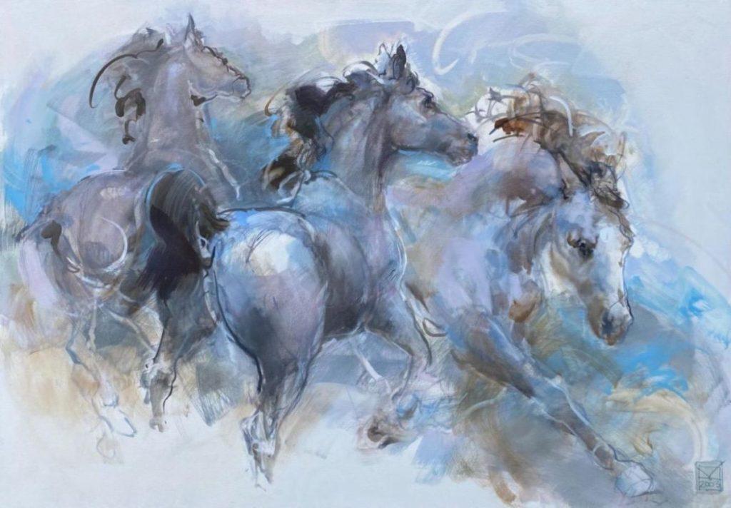Schilderijen te koop van kunstschilder Marli Hommel, Expositie Galerie Wijdemeren Breukeleveen
