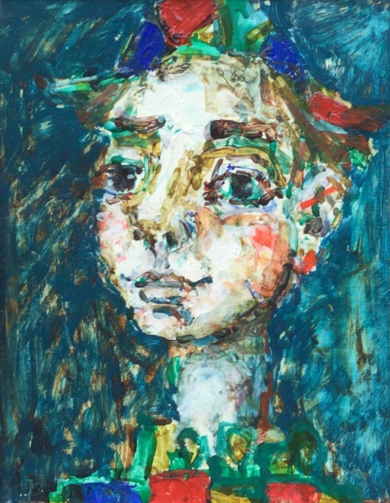 schilderijen te koop van kunstschilder, Paul Aizpir, clown, expositie, galerie wijdemeren breukeleveen