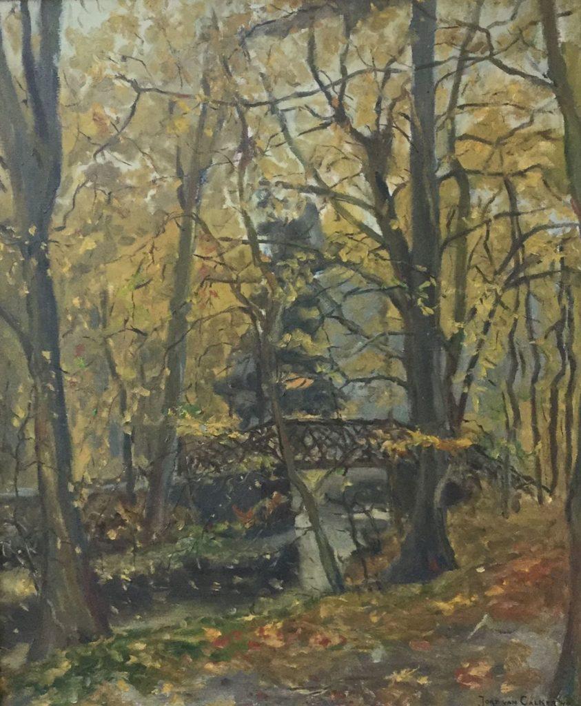 Schilderijen te koop van kunstschilder Jord van Calker Spaanderswoud te Hilversum olie op doek, 60 x 51 cm rechtsonder gesigneerd, Expositie Galerie Wijdemeren Breukeleveen