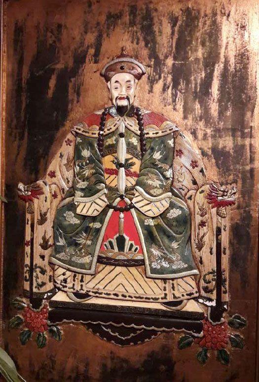 Schilderijen te koop Voorouderportretten, diptiek Beschilderd reliëf, gemengde techniek, 91 x 60,5 cm, Expositie Galerie Wijdemeren Breukeleveen