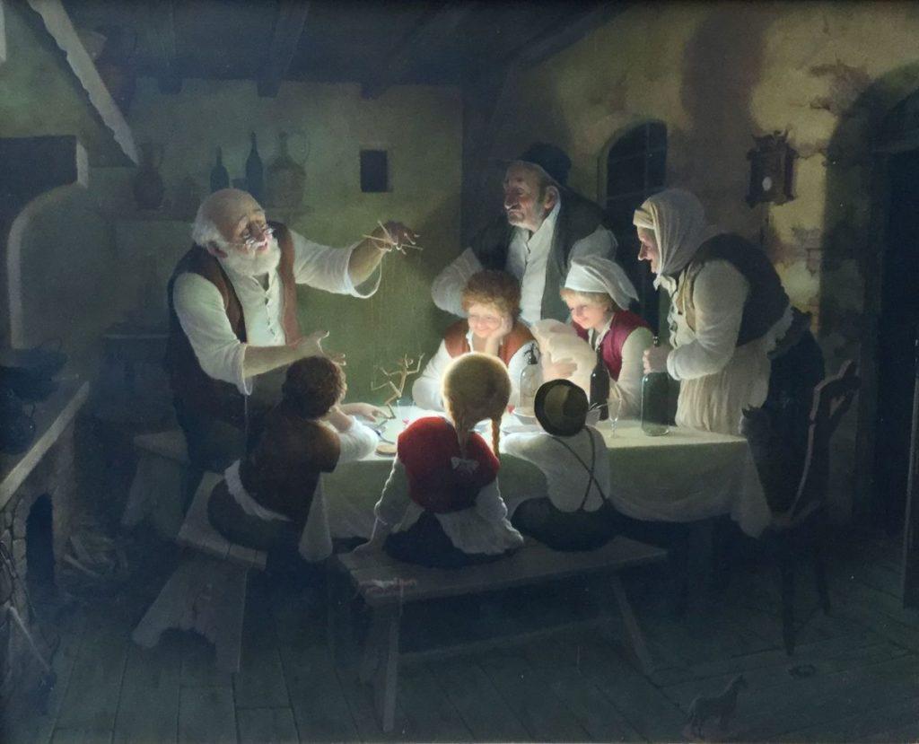 Kunst te koop bij Galerie Wijdemeren, Vida Gabor De marionet olie op multiplex, 50 x 40 cm rechtsonder gesigneerd