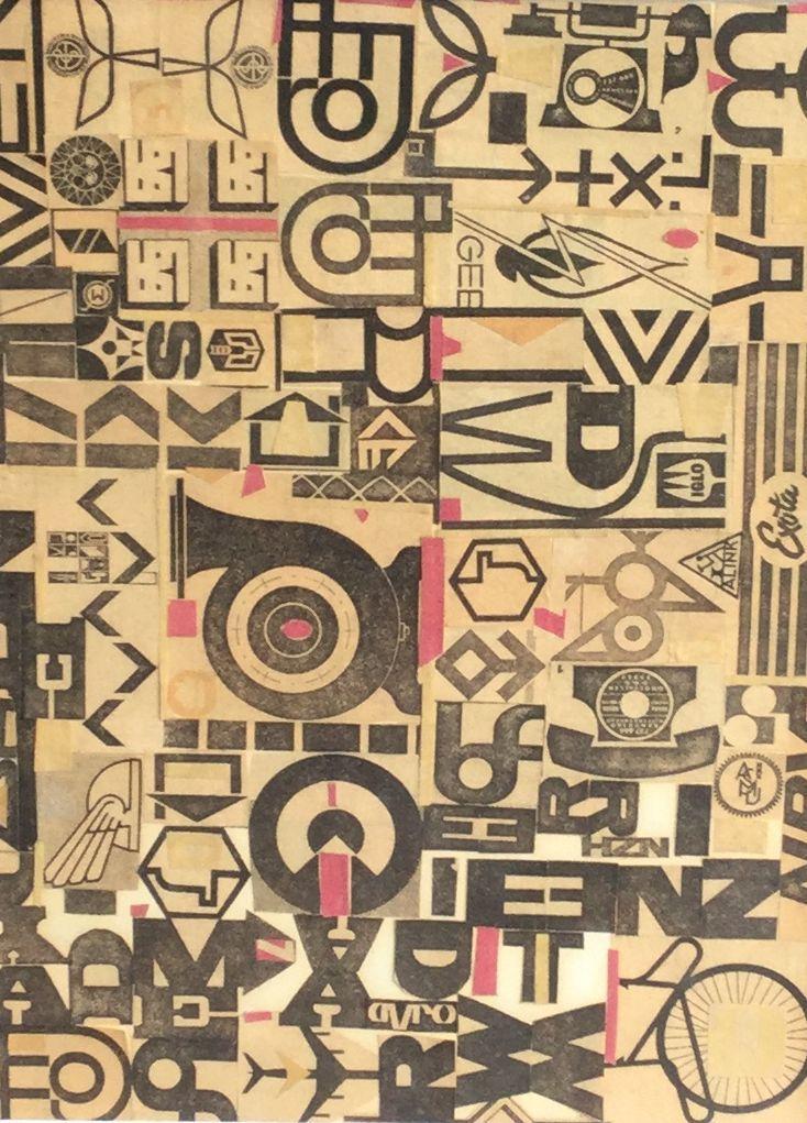 Kunst te koop bij Galerie Wijdemeren door Ger Langeweg abstracte voorstelling gemengde techniek, 32.5 x 23.5 cm linksonder voorzien van atelierstempel