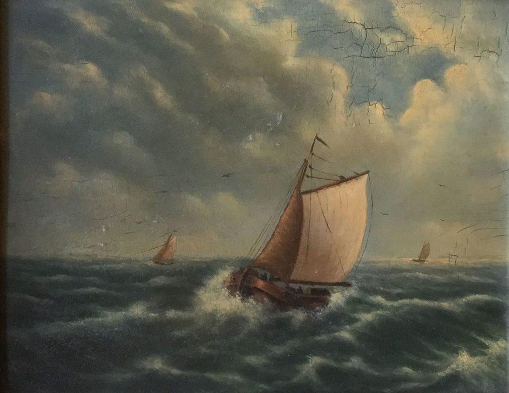 Kunstenaar  C4929-1 Schip op zee