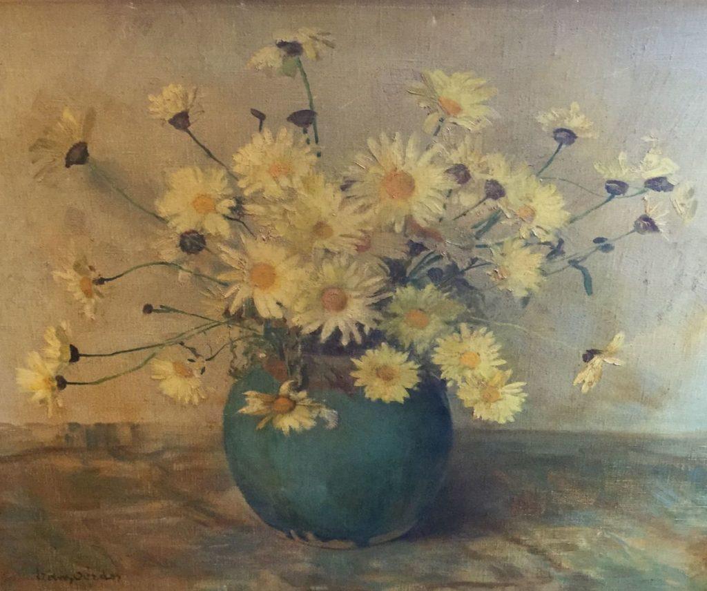 Schilderijen te koop van kunstschilder Frans Oerder Bloemstilleven olie op doek, Expositie Galerie Wijdemeren Breukeleveen