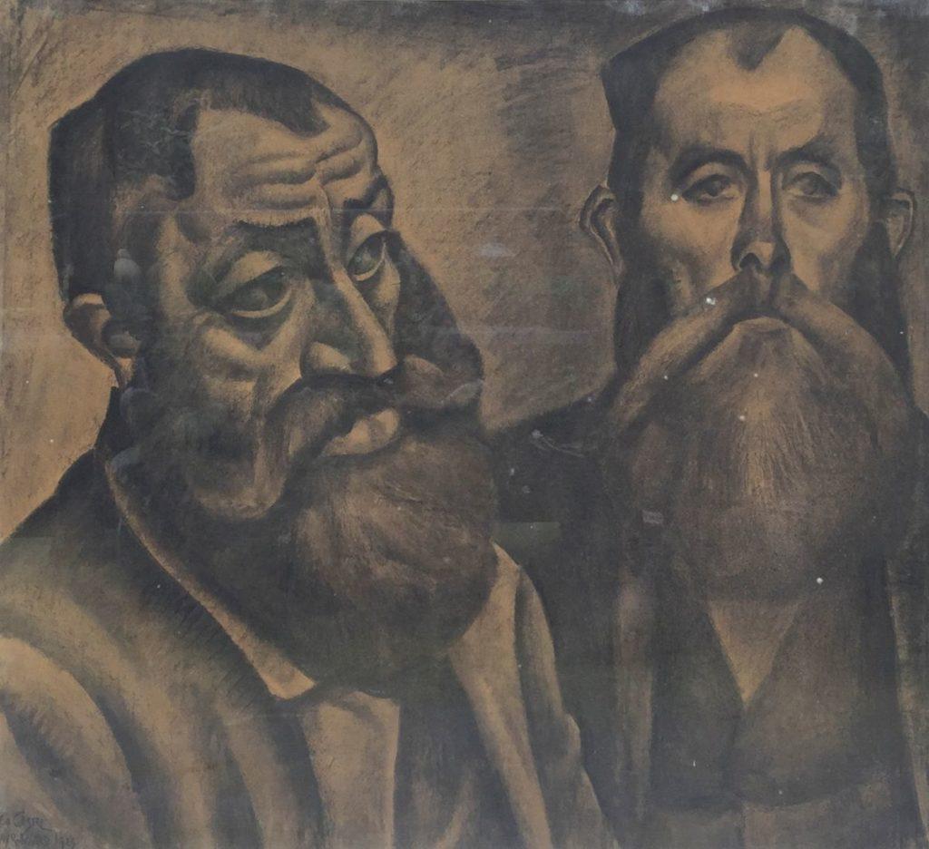 Kunst te koop bij Galerie Wijdemeren van kunstschilder Leo Gestel Bayerwald houtskool op papier, 62.5 x 69 cm linksonder gesigneerd en gedateerd 1923