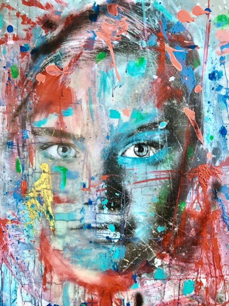 Kunst te koop bij Galerie Wijdemeren van Yasmin Hargreaves Anna, Colors mixed media
