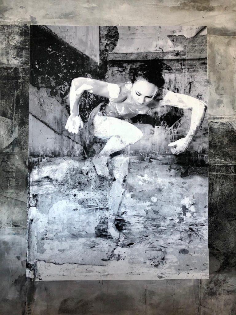 Galerie Wijdemeren, kunst te koop van C4944-1 Robbert Fortgens Dance 1 mixed media, 180 x 150 cm