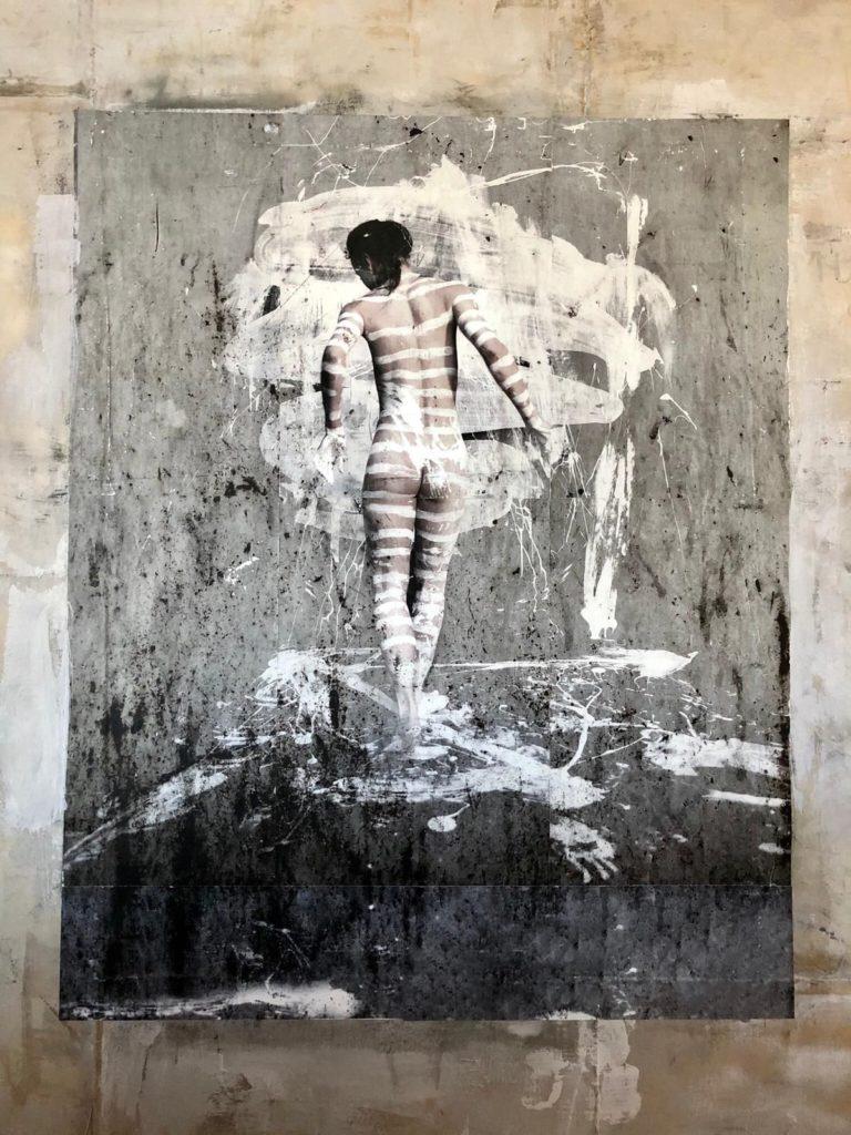 Kunst te koop bij galerie Wijdemeren, werk van Robbert Fortgens Dance 3 mixed media, 180 x 150 cm