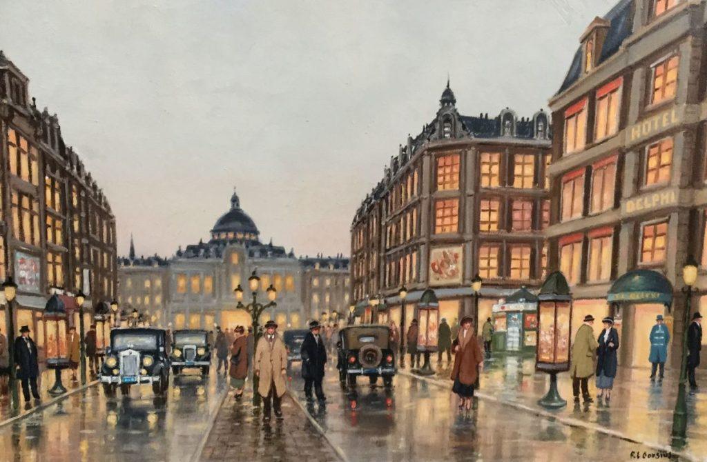 Schilderijen te koop bij Galerie Wijdemeren, van kunstschilder F.L. Corsius Parijs olie op doek, 60 x 90 cm rechtsonder gesigneerd