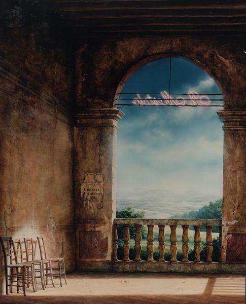 Schilderijen te koop bij Galerie Wijdemeren van kunstschilder Ger Eikendal 1998 Verval Villa Dei Vescovi Padua olie op paneel, 123 x 98 cm verso gesigneerd
