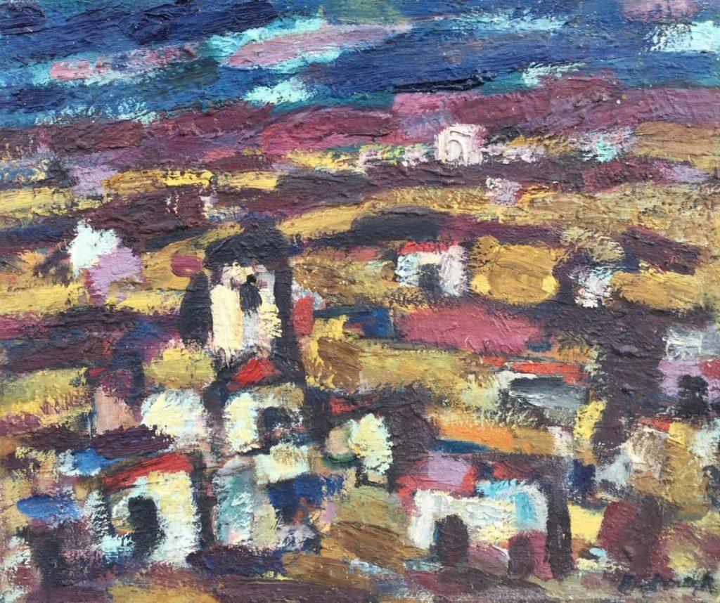 Kunst te koop bij galerie Wijdemeren van Anton Buytendijk Spanje olie op doek, 50.5 x 60.5 cm rechtsonder gesigneerd