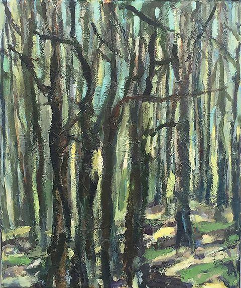 Kunst te koop bij Galerie Wijdemeren van kunstschilder Lenie Arntzen Bos acryl op doek, 60 x 50 cm rechtsonder gesigneerd