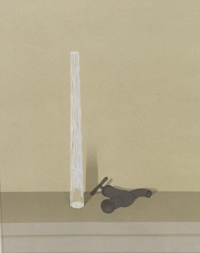 Kunst te koop bij Galerie Wijdemeren van kunstenaar Jeroen Henneman C-Kraan en waterstraal zeefdruk, 59 x 45.5 cm, linksonder oplage 6/190 rechtsonder handgesigneerd en gedateerd 73