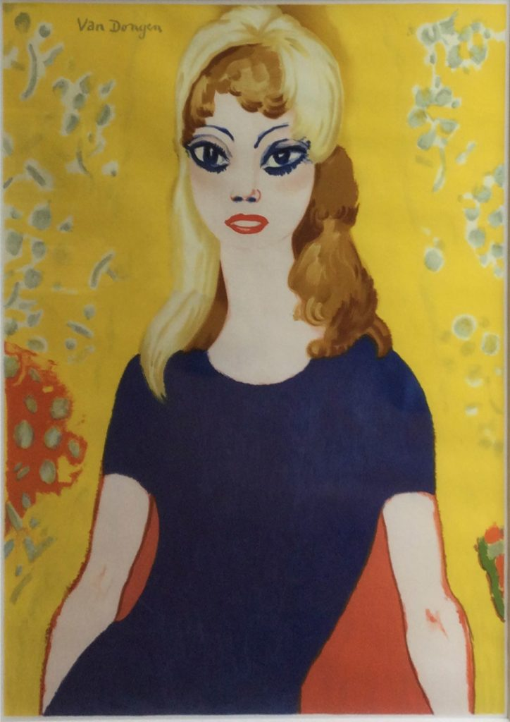Kunst te koop bij Galerie Wijdemeren van kunstschilder Kees van Dongen Brigitte Bardot litho oplage 500 st.