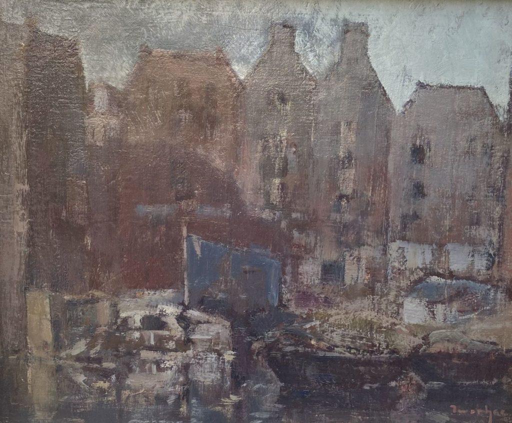 Kunst te koop bij Galerie Wijdemeren van kunstschilder Albert Zwartjes Prinseneiland Amsterdam gesigneerd rechtsonder