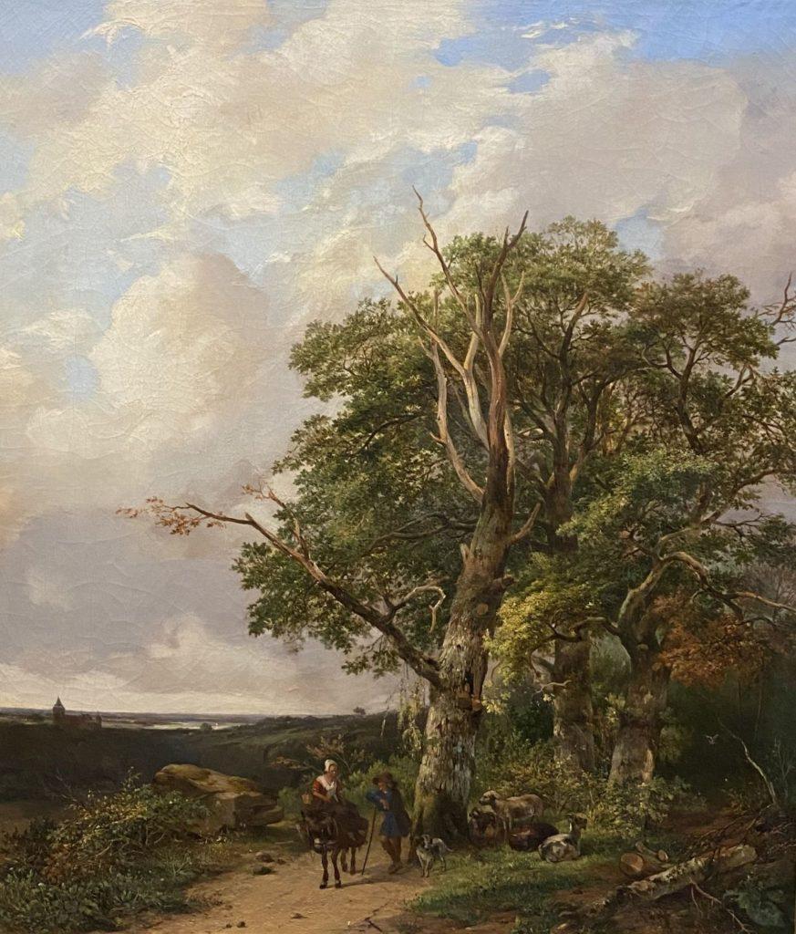 Kunst te koop bij Galerie Wijdemeren, Johannes Pelgrom Gezicht op Doorwerth, 1811 olie op doek, 77.5 x 67.5 cm