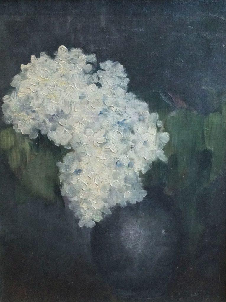 Kunst te koop bij Galerie Wijdemeren van kunstschilder Willem van Leusden Bloemstilleven marouflé, 45 x 34 cm