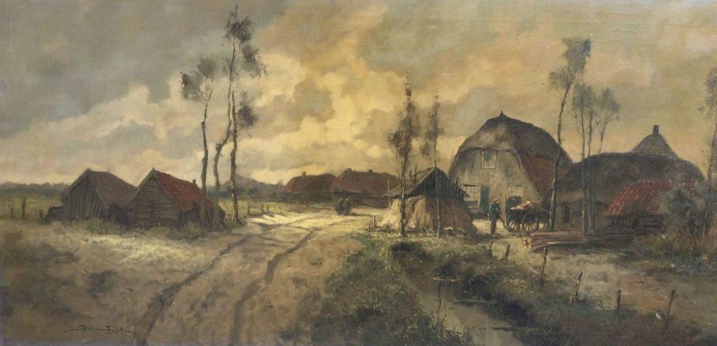 Kunst te koop bij Galerie Wijdemeren van kunstschilder Jos van Dijk Holten olie op doek, 60 x 120 cm rechtsonder en verso gesigneerd