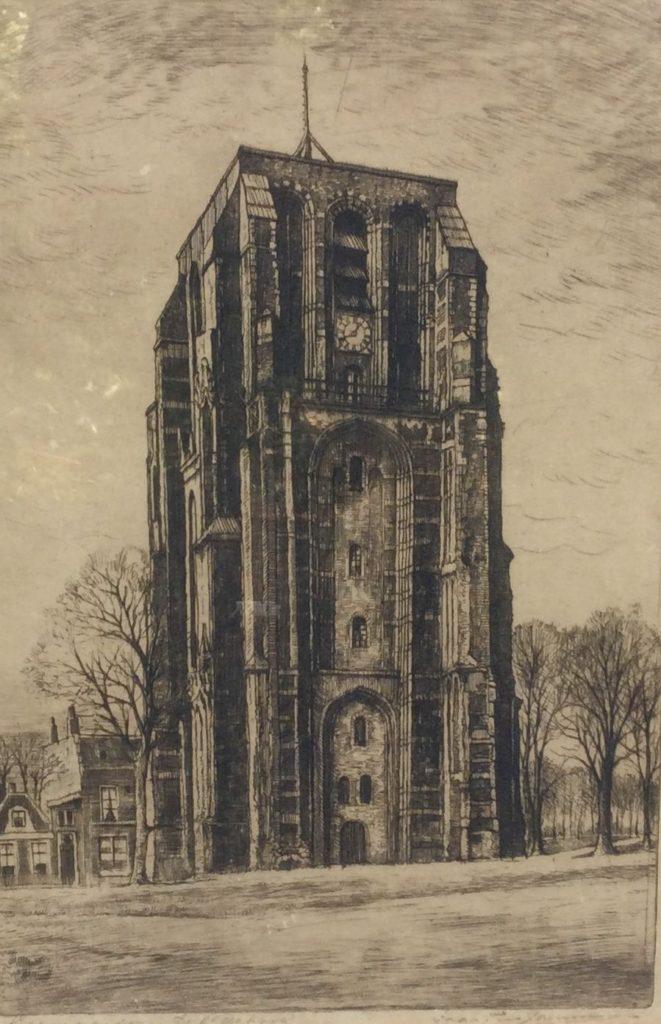 Kunst te koop bij Galerie Wijdemeren van kunstenaar Marius Janssen de Oldehove te Leeuwarden ets, 36.5 x 25 cm rechtsonder handgesigneerd