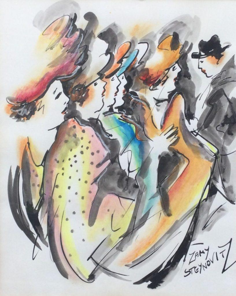 Kunst te koop bij Galerie Wijdemeren van kunstschilder Zamy Steynovitz, Deftige dames