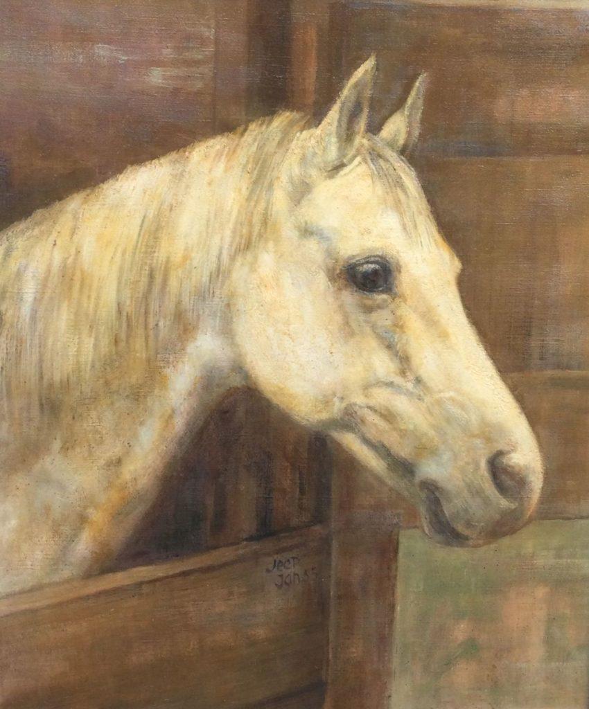 Schilderijen te koop van kunstschilder, Wout Schram Paardenhoofd,