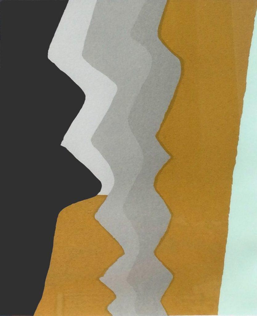 Kunst te koop bij galerie Wijdemeren van Martin Stoete Abstracte voorstelling zeefdruk, 32.5 x 25 cm rechtsonder gesigneerd, gedateerd 93, linksonder oplage 92/100