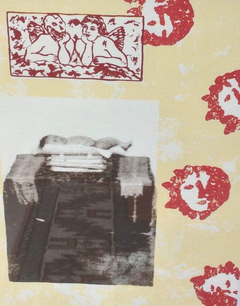 Kunst te koop bij Galerie Wijdemeren van graficus Jacqueline van Rosmalen De zon in mijn eerste huis gemengde druktechnieken, 33 x 25 cm rechtsonder gesigneerd en gedateerd 94, linksonder oplage 17/100