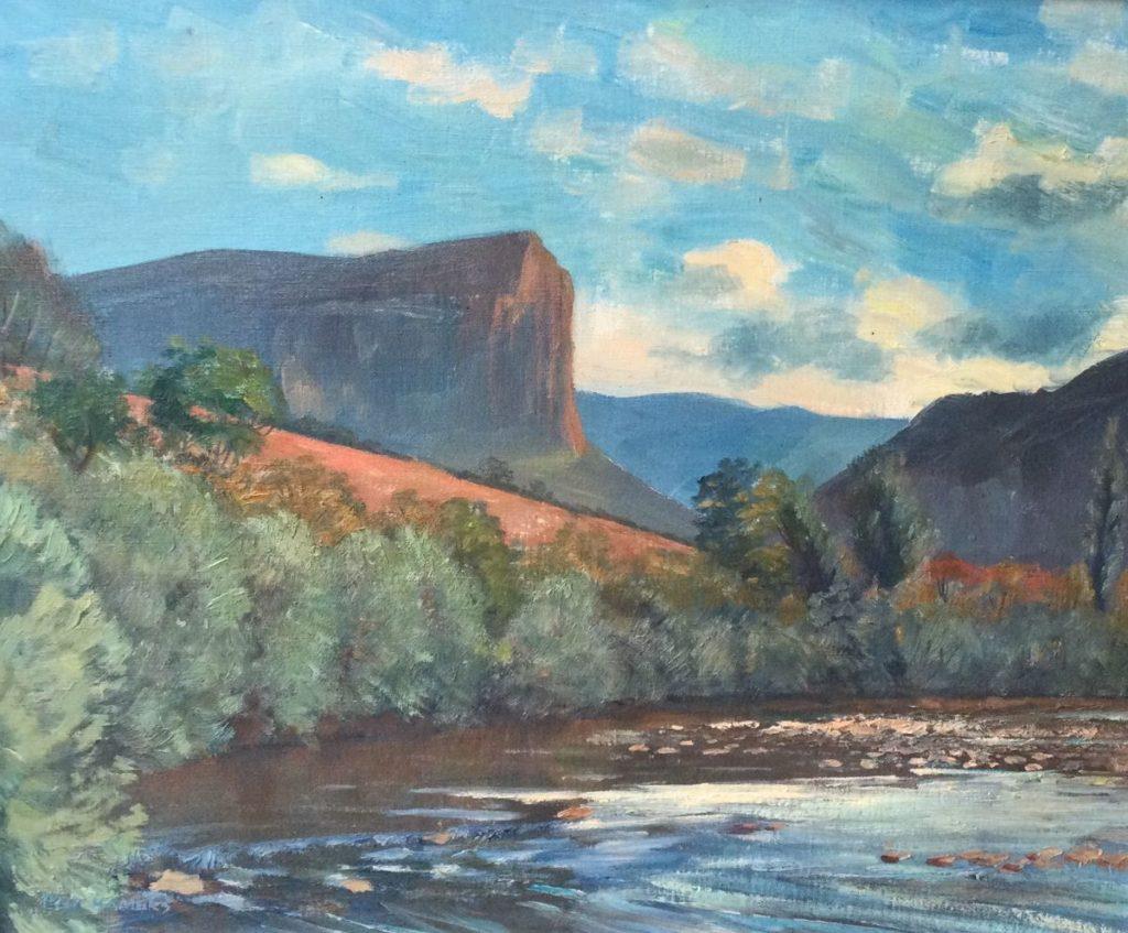 Kunst te koop bij Galerie Wijdemeren Flip Hamers Dal van de Tet - bij Chorange-Veroors Frankrijk, 1952 olie op doek, 50.5 x 60 cm linksonder en verso gesigneerd