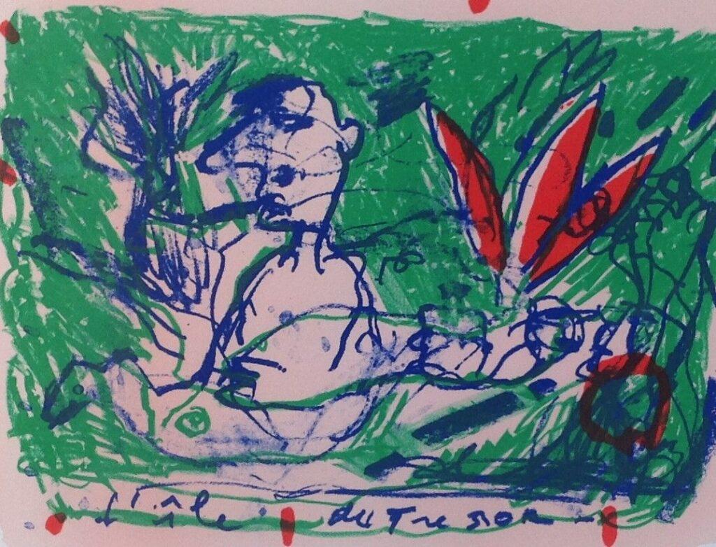 Kunstenaar Dominique Chan C541, Dominique Chan Litho, oplage 77/125 25 cm x 32 cm