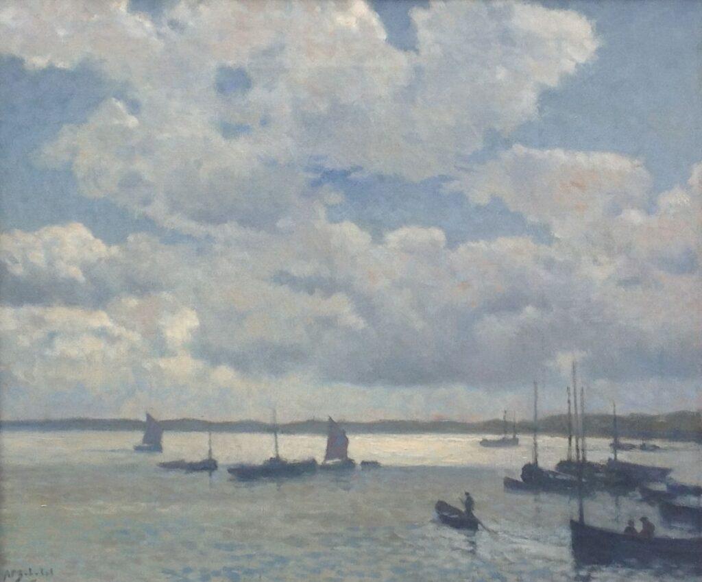 Kunstenaar Anthonie Pieter Schotel C577, A.P. Schotel Bretagne Olie op doek, doekmaat: 50 x 60 cm Linksonder gesigneerd Verkocht