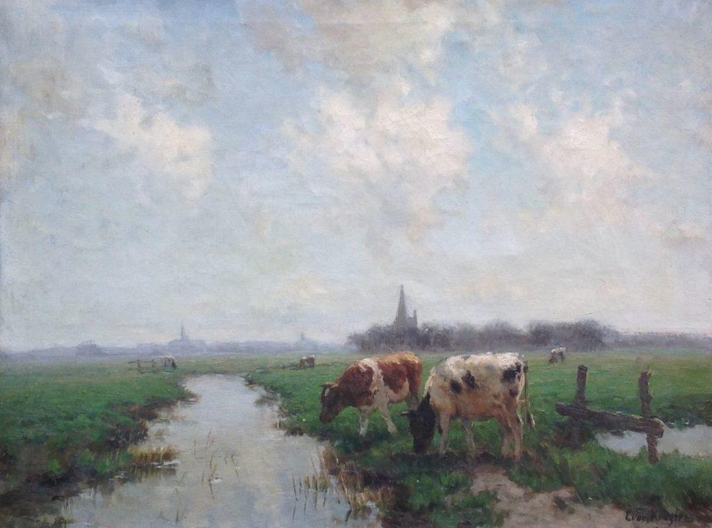 Schilderijen te koop van kunstschilder Fedor van Kregten olie op doek, doekmaat 67 x 88 cm rechtsonder gesigneerd, Expositie Galerie Wijdemeren Breukeleveen