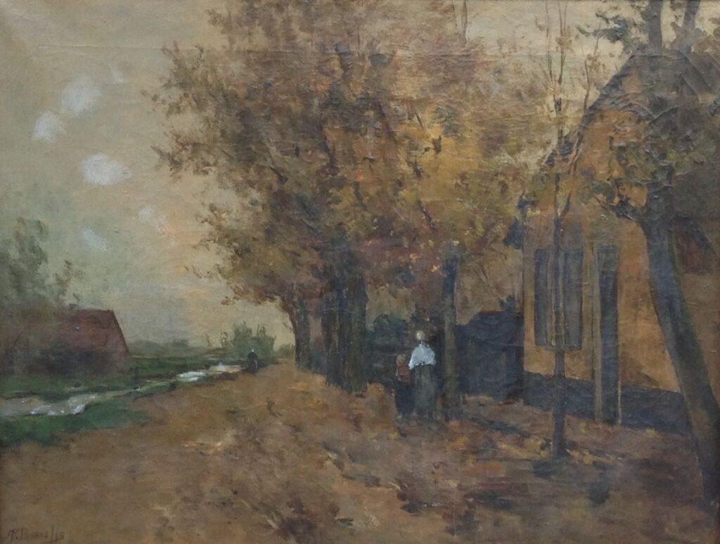 Kunstenaar Victor Bauffe C607 Victor Bauffe Boerderij Olie op doek, 46 x 61 cm l.o. gesigneerd verkocht