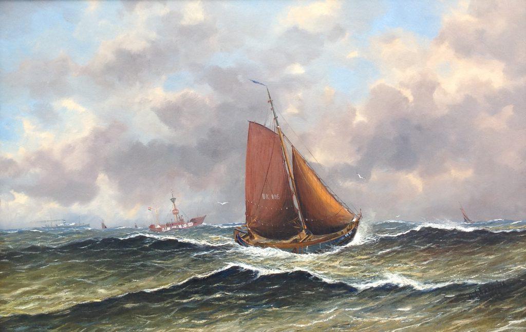 Schilderijen te koop, kunstschilder Haaike Abraham Jaarsma olie op paneel, paneelmaat 65 x 100 cm rechtsonder gesigneerd, expositie Galerie Wijdemeren Breukeleveen