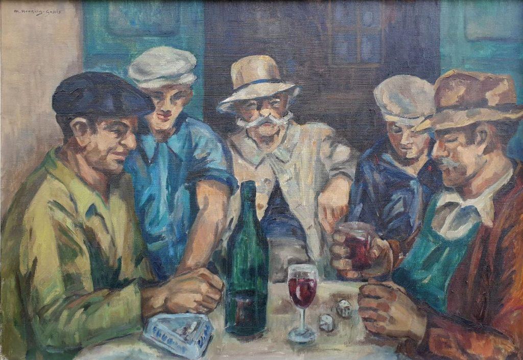 Schilderijen te koop van kunstschilder M. Heering-Galles Dobbelaars olie op doek, 100 x 71 cm linksboven gesigneerd, Expositie Galerie Wijdemeren Breukeleveen