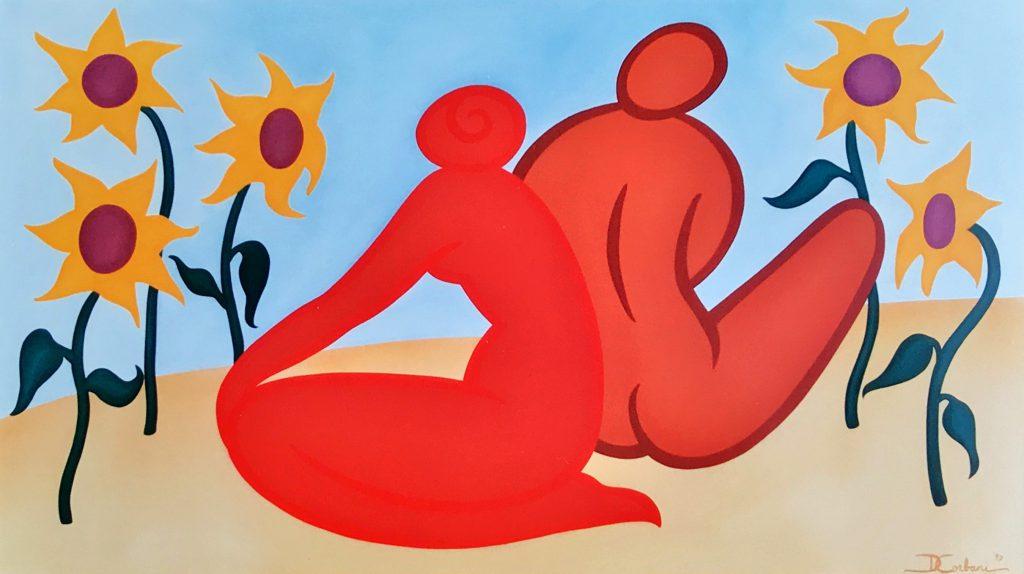 Kunstenaar Donna Corbani C856, Donna Corbani 1997 Verkocht