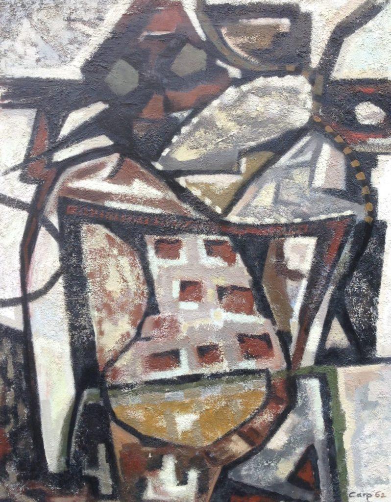 Schilderijen te koop van kunstschilder Jaap de Carpentier Abstract, olie op doek, Expositie Galerie Wijdemeren Breukeleveen
