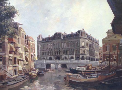 Schilderijen te koop van kunstschilder CA Streefekerk Rotterdam, Plan C olie op doek, gesigneerd, Expositie Galerie Wijdemeren Breukeleveen