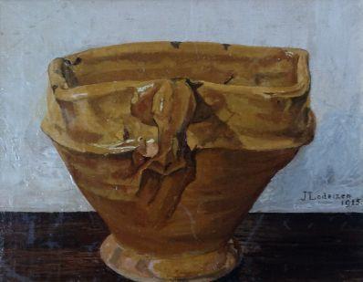 Kunstenaar Jo Lodeizen 1666, Jo Lodeizen stilleven 20,5 x 25 cm r.o. gesigneerd