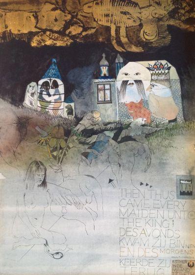 Kunstenaar Michel F. van Overbeeke A5019-2, Michel F van Overbeeke, origineel